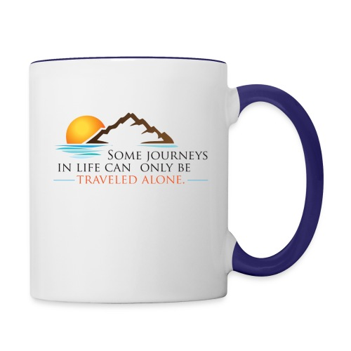 Viral Life Quote: Quotes Ken Poirot Color Accent Coffee Mug - Contrast Coffee Mug