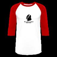 T-Shirts ~ Men's Baseball T-Shirt ~ Darth Vader Sithin' - Men's Baseball 3/4 Sleeve T-Shirt