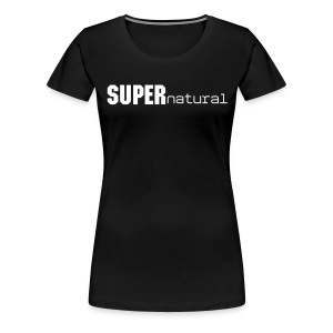 Super Natural w/ Cape (on Back) - Women's Premium T-Shirt