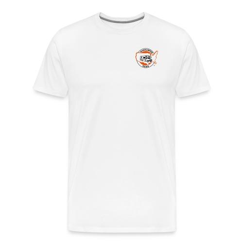 Mens Basic with Website on Back - Men's Premium T-Shirt