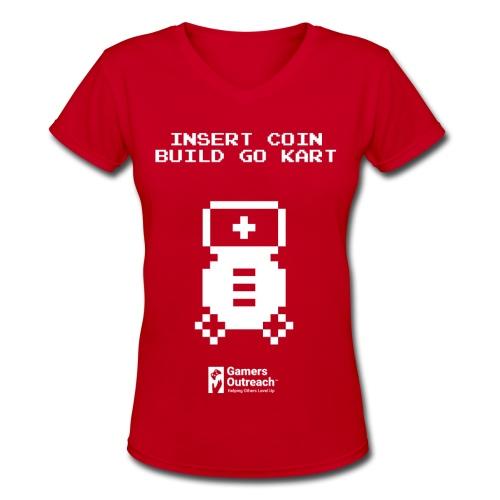Insert Coin (Women's) - Women's V-Neck T-Shirt
