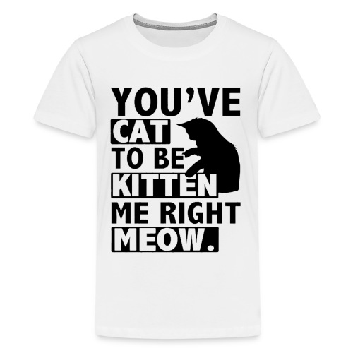 You've cat to be kitten me right meow T-Shirts - Kids' Premium T-Shirt
