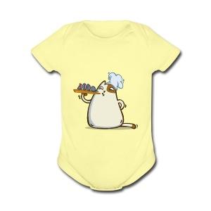 Friday Cat №25 - Short Sleeve Baby Bodysuit