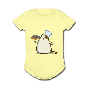 Friday Cat №25 - Short Sleeve Baby Bodysuit