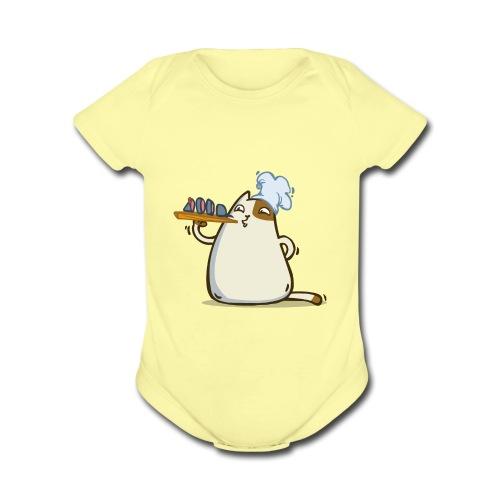 Friday Cat №25 - Organic Short Sleeve Baby Bodysuit