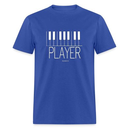 Player (Piano) T-Shirt Men's Blue with White Keys - Men's T-Shirt