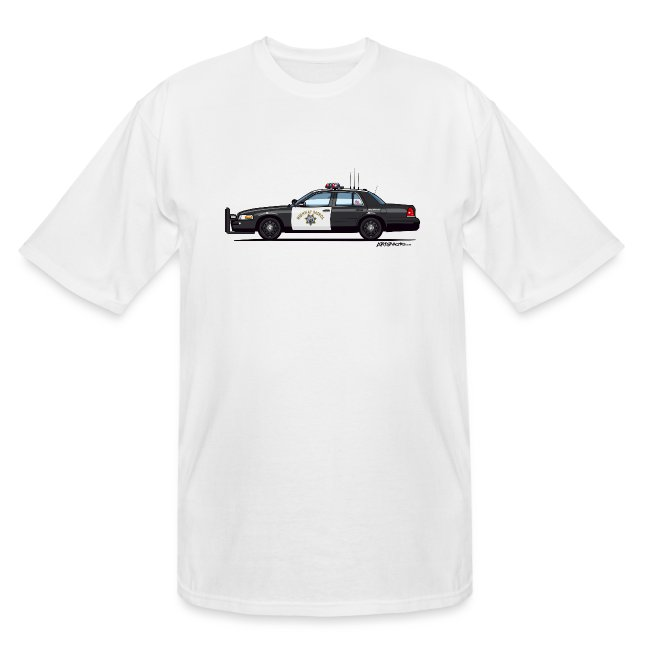 6acaf8e4c89 California Highway Patrol Ford Crown Victoria Police Interceptor | Men's  Tall T-Shirt
