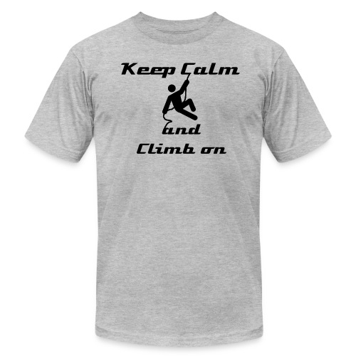Keep calm, and climb on - Men's T-Shirt by American Apparel