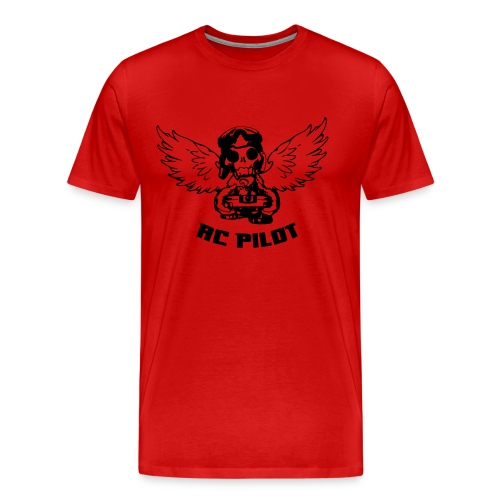 Skull Pilot - open TX - Men's Premium T-Shirt