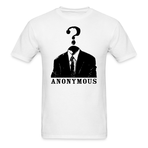 anonymous (black) - Men's T-Shirt