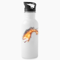 Flaming Baseball Zoom Mugs & Drinkware