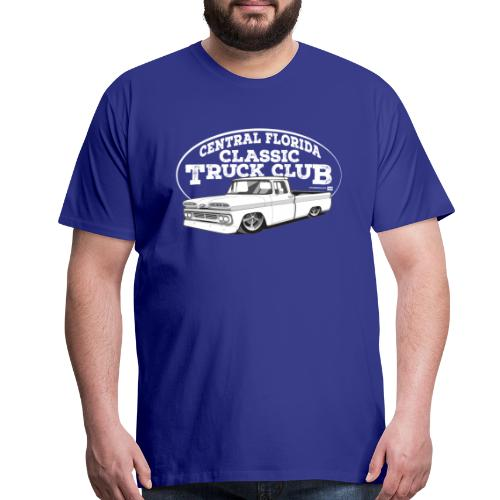 Central Florida Classic Truck Club Tee Larger Sizes (White graphic) - Men's Premium T-Shirt