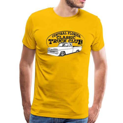 Central Florida Classic Truck Club Tee Larger Sizes (Black graphic) - Men's Premium T-Shirt
