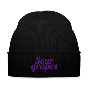 Knit Cap with Cuff Print