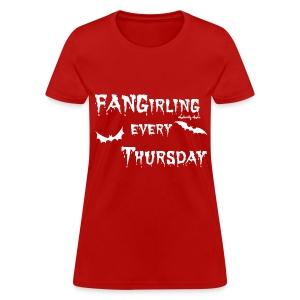 Fangirling White - Women's T-Shirt