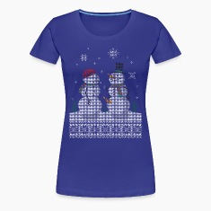 UGLY HOLIDAY SWEATER HAPPY SNOWMAN CARROT THIEF Women's T-Shirts