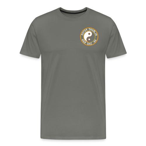 Enter Shaolin Men's T-Shirt Classic Cut Tee Asphalt Gray (Front & Back Logo) - Men's Premium T-Shirt