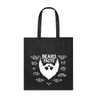 Bags & backpacks ~ Tote Bag ~ Beard Facts (white)