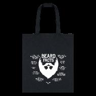 Bags & backpacks ~ Tote Bag ~ Beard Facts (white)