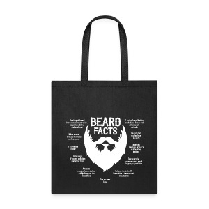 Beard Facts (white) - Tote Bag