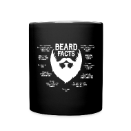 Mugs & Drinkware ~ Full Color Mug ~ Beard Facts (white)