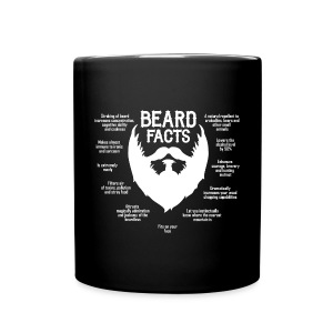 Beard Facts (white) - Full Color Mug