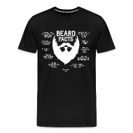 T-Shirts ~ Men's Premium T-Shirt ~ Beard Facts (white)