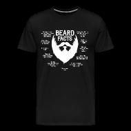 T-Shirts ~ Men's Premium T-Shirt ~ Beard Facts (white)