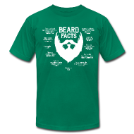 T-Shirts ~ Men's T-Shirt by American Apparel ~ Beard Facts (white)