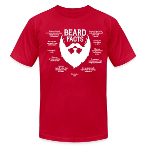 Beard Facts (white) - Men's T-Shirt by American Apparel