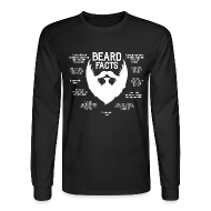 Long Sleeve Shirts ~ Men's Long Sleeve T-Shirt ~ Beard Facts (white)
