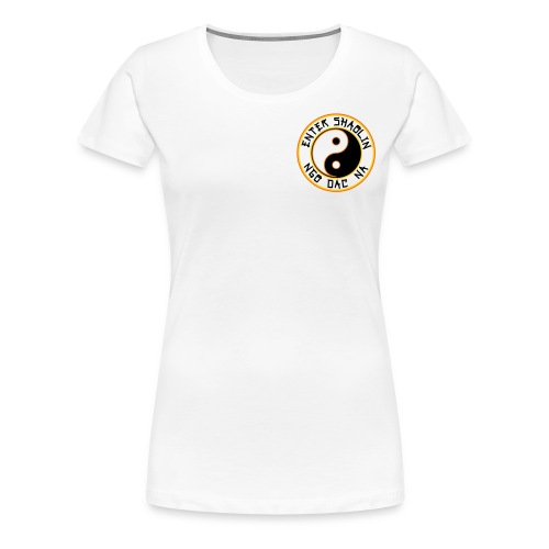 Enter Shaolin Women's T-Shirt 100% Cotton White (Front & Back Logo) - Women's Premium T-Shirt