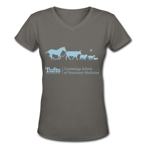 Women's V-neck T-shirt - Running Animals - Women's V-Neck T-Shirt