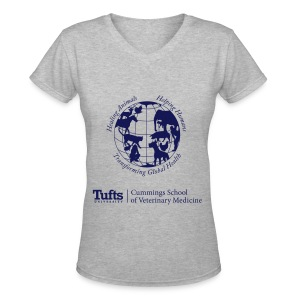 Women's V-neck T-shirt - Globe - Women's V-Neck T-Shirt
