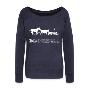 Wideneck Slouchy Sweatshirt - Running Animals - Women's Wideneck Sweatshirt