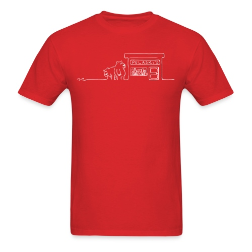 Grizzly Bears Near Pulaski's Candy Store T-Shirt - Men's T-Shirt