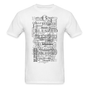 Blessed All-Over Men's T - tan - Men's T-Shirt