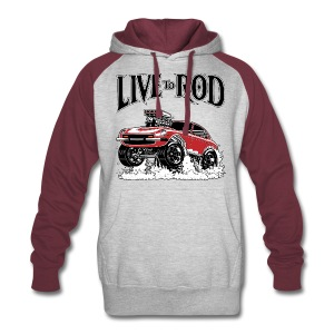 LIVE TO ROD 280Z Colorback Hoodie - Colorblock Hoodie
