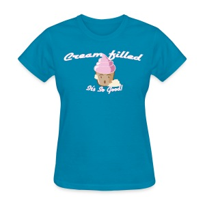 Women's Cream Filled Cupcake T-Shirt - Women's T-Shirt
