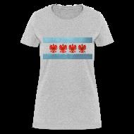 Women's T-Shirts ~ Women's T-Shirt ~ Polish Chicago Flag