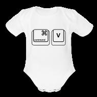 Baby Bodysuits ~ Baby Short Sleeve One Piece ~ Copy & Paste (Mac Copy - Baby)