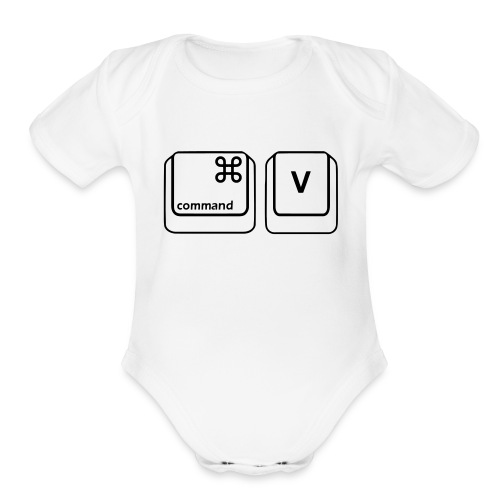 Copy & Paste (Mac Copy - Baby) - Organic Short Sleeve Baby Bodysuit