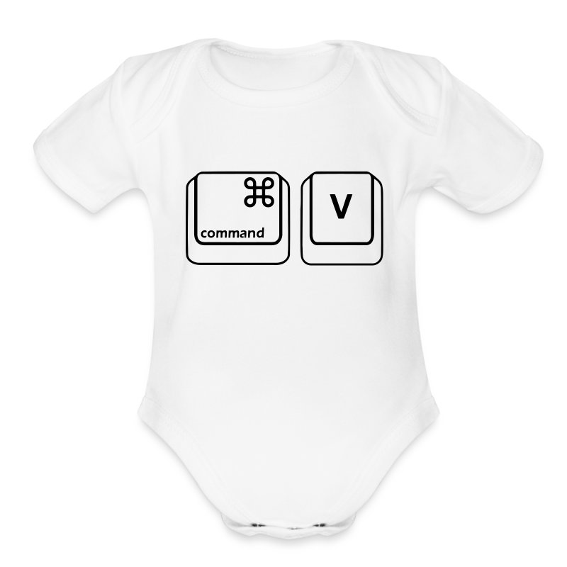 Copy & Paste (Mac Copy - Baby) - Short Sleeve Baby Bodysuit