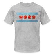 T-Shirts ~ Men's T-Shirt by American Apparel ~ Polish Chicago Flag