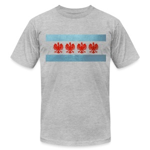 Polish Chicago Flag - Men's T-Shirt by American Apparel