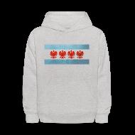 Sweatshirts ~ Kids' Hoodie ~ Polish Chicago Flag