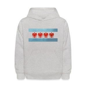 Polish Chicago Flag - Kids' Hoodie