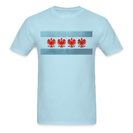 T-Shirts ~ Men's T-Shirt ~ Polish Chicago Flag