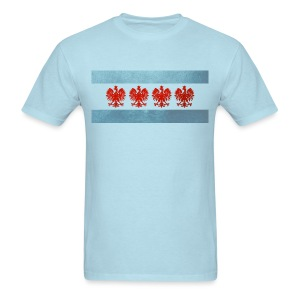Polish Chicago Flag - Men's T-Shirt