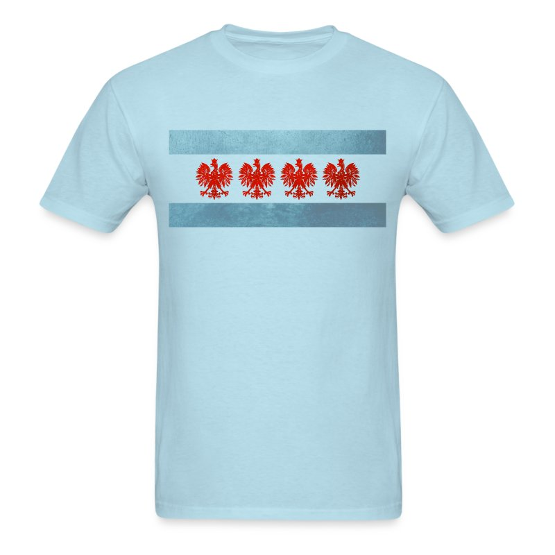 Polish Chicago Flag - Men's T-Shirt